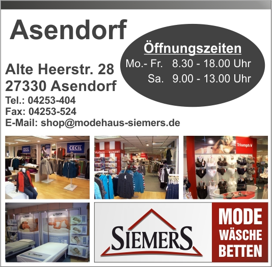 Modehaus Siemers in Asendorf