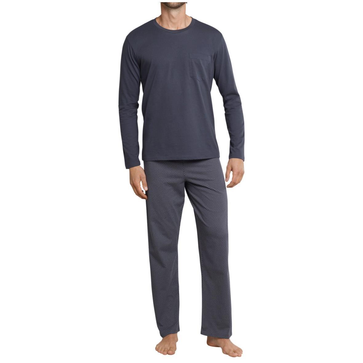 3afcd11384 Schlafanzug lang Jersey grau - Ebony - Siemers Online-Shop