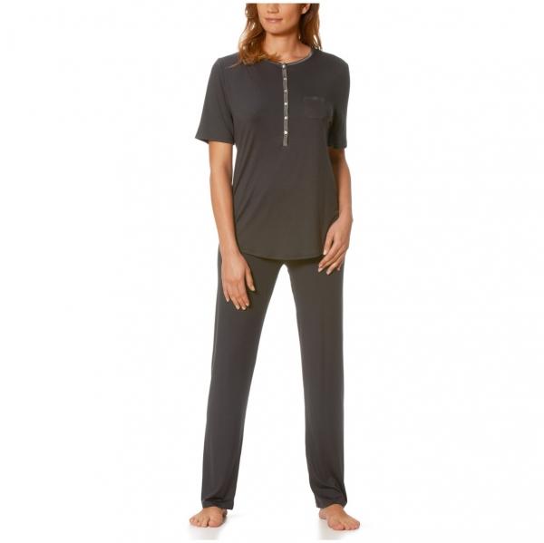 mey jeanie damen schlafanzug lang 1 4 arm siemers online shop. Black Bedroom Furniture Sets. Home Design Ideas